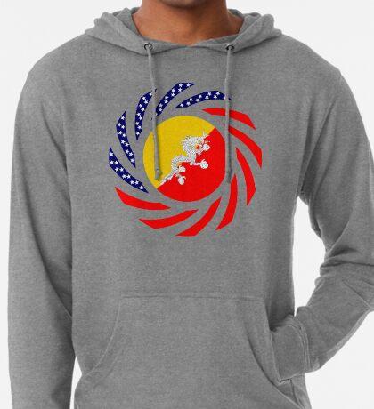 Bhutanese American Multinational Patriot Flag Series Lightweight Hoodie