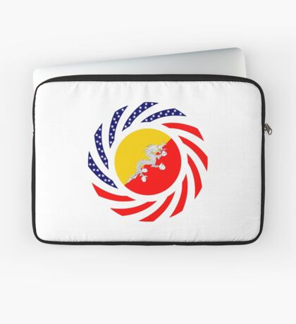 Bhutanese American Multinational Patriot Flag Series Laptop Sleeve