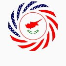 Cypriot American Multinational Patriot Flag Series by Carbon-Fibre Media