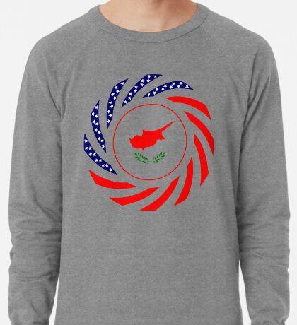 Cypriot American Multinational Patriot Flag Series Lightweight Sweatshirt