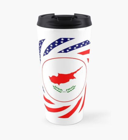 Cypriot American Multinational Patriot Flag Series Travel Mug
