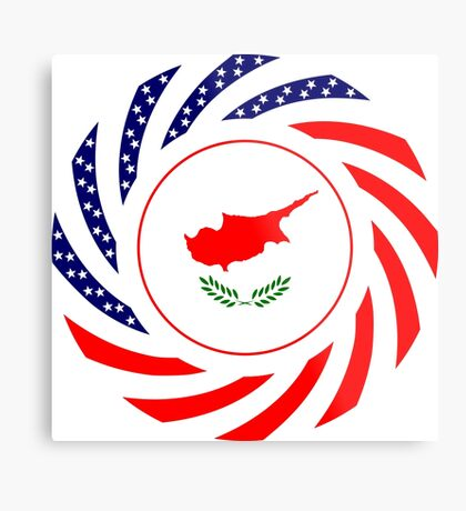 Cypriot American Multinational Patriot Flag Series Metal Print