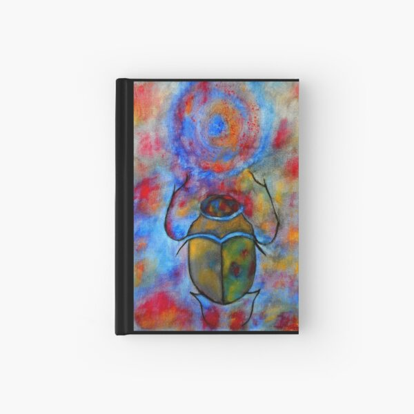 Psychedelic Scarab Hardcover Journal