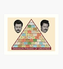 Swanson Pyramid of Greatness Art Print