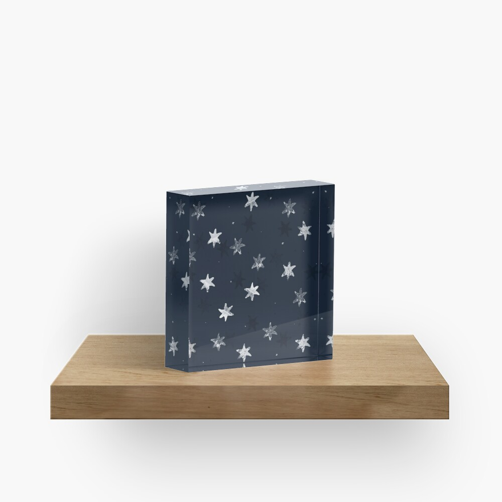 Stamped Star Acrylic Block