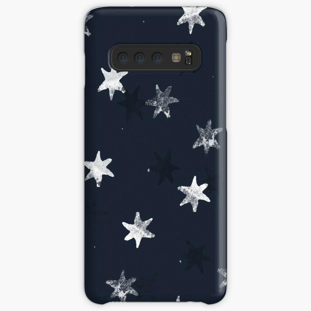 Gestempelter Stern Hülle & Klebefolie für Samsung Galaxy