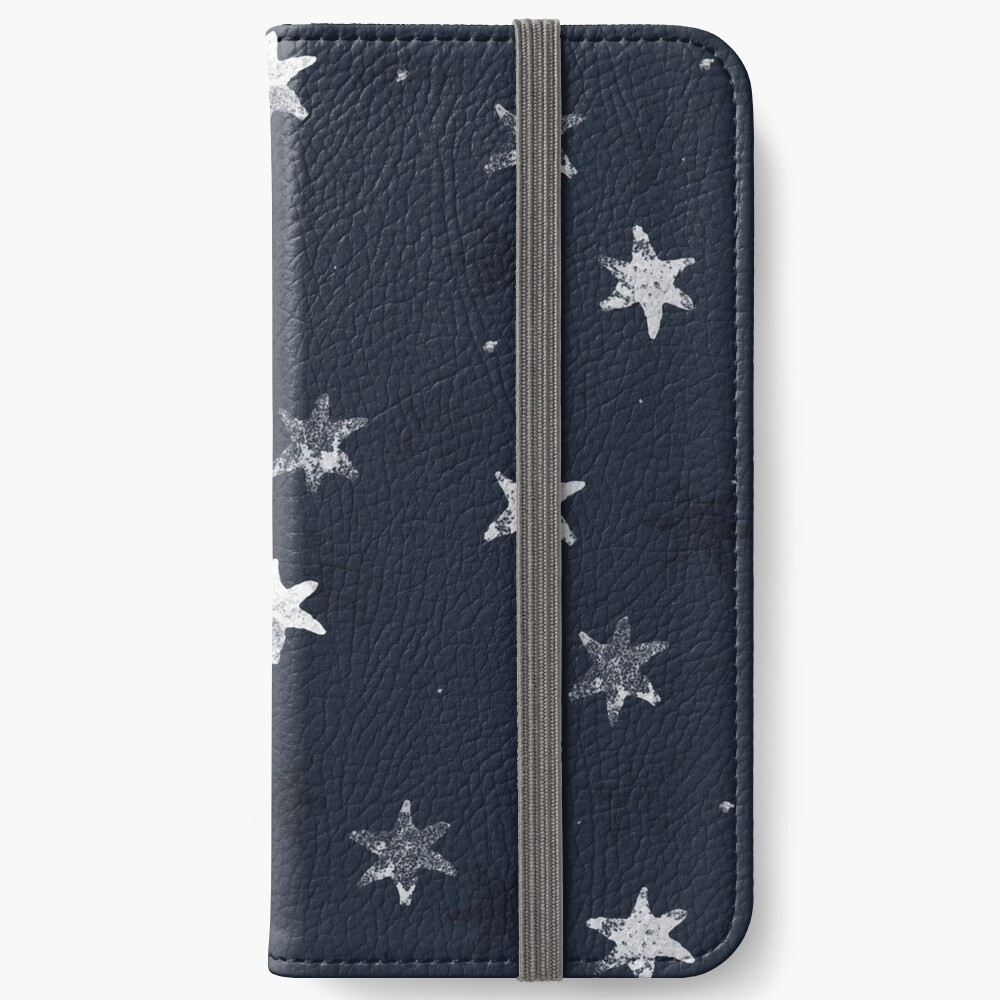 Stamped Star iPhone Wallet