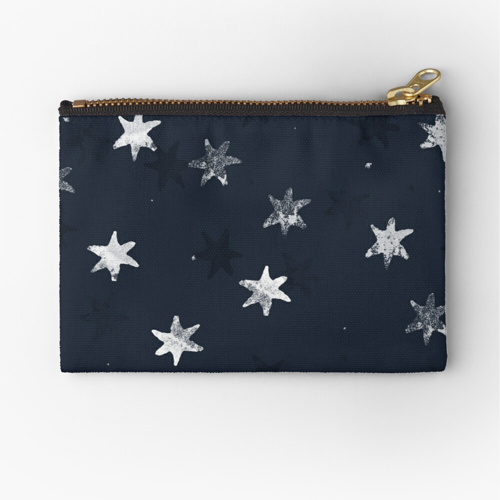 Stamped Star Zipper Pouch
