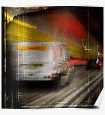 Dartford Tunnel, DHL Van Poster