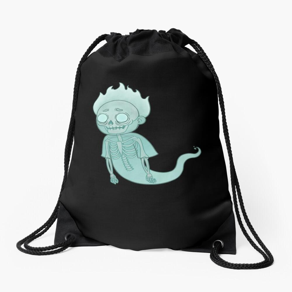 Ghost Morty Drawstring Bag