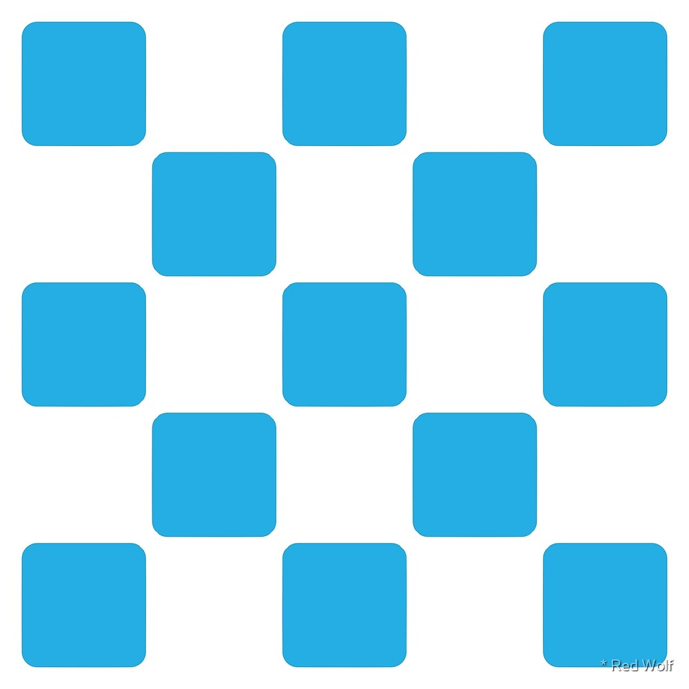 Geometric Pattern: Rounded Weave: White/Blue by * Red Wolf
