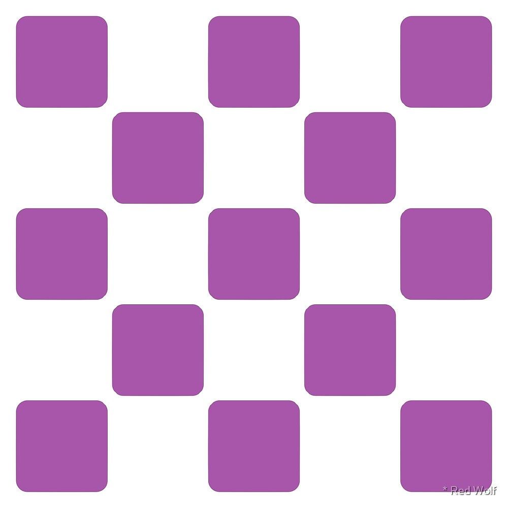 Geometric Pattern: Rounded Weave: White/Purple by * Red Wolf
