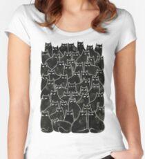 Chats Méfiants T-shirt échancré