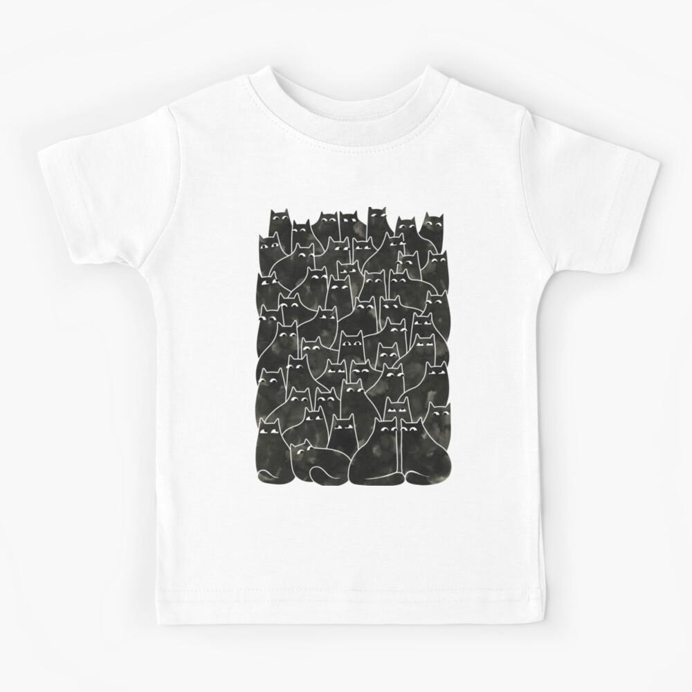 Suspicious Cats Kids T-Shirt
