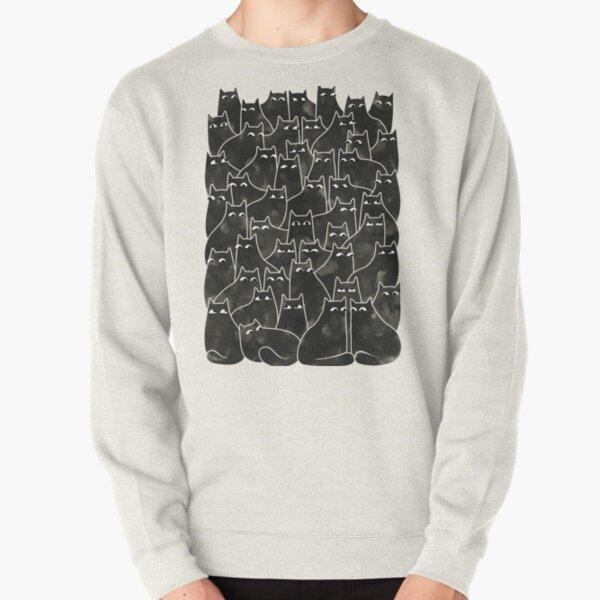 Suspicious Cats Pullover Sweatshirt