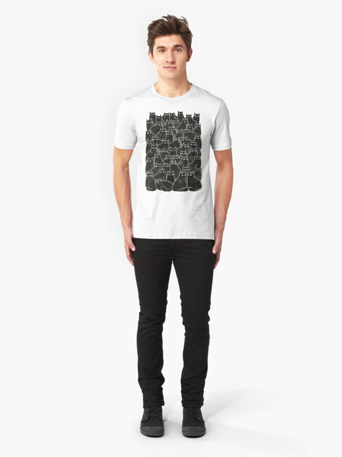 Alternate view of Suspicious Cats Slim Fit T-Shirt