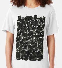 Suspicious Cats Slim Fit T-Shirt