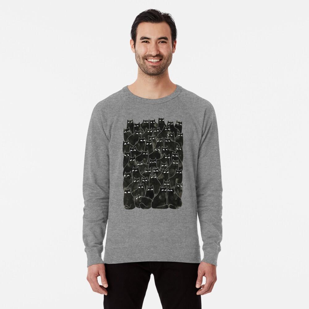 Suspicious Cats Lightweight Sweatshirt