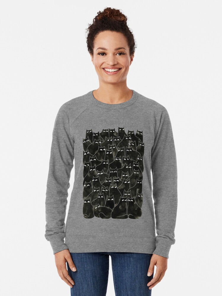 Alternate view of Suspicious Cats Lightweight Sweatshirt