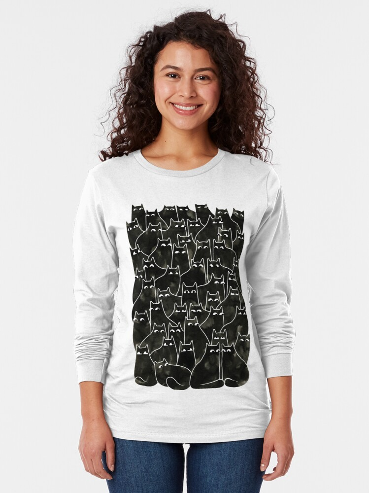 Alternate view of Suspicious Cats Long Sleeve T-Shirt