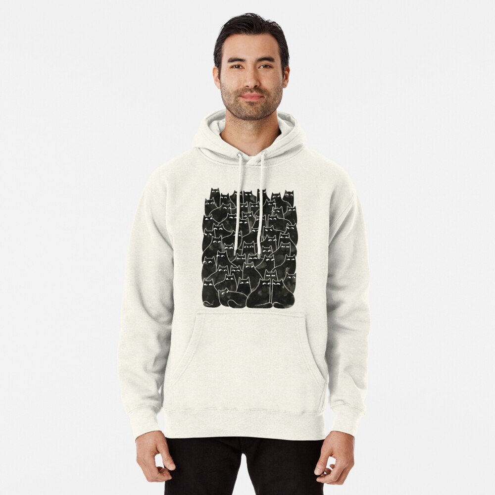 Suspicious Cats Pullover Hoodie