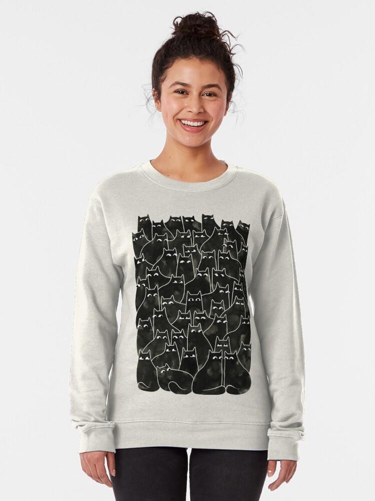 Alternate view of Suspicious Cats Pullover Sweatshirt
