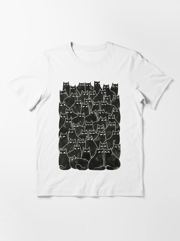 Vista alternativa de Camiseta esencial Gatos sospechosos