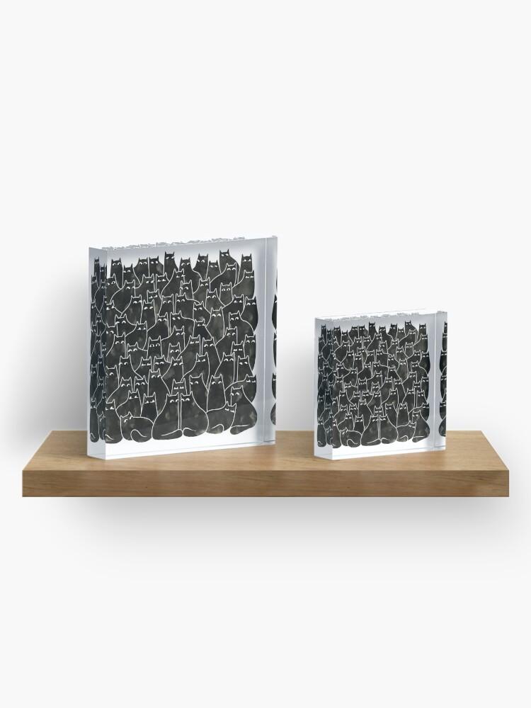Alternate view of Suspicious Cats Acrylic Block