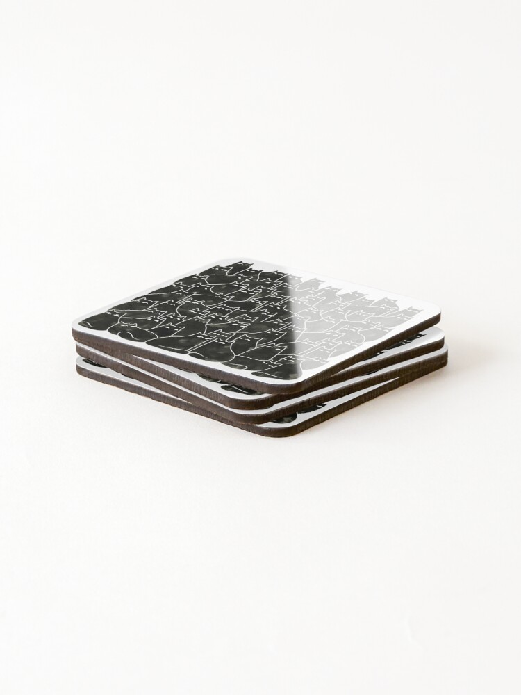 Alternate view of Suspicious Cats Coasters (Set of 4)