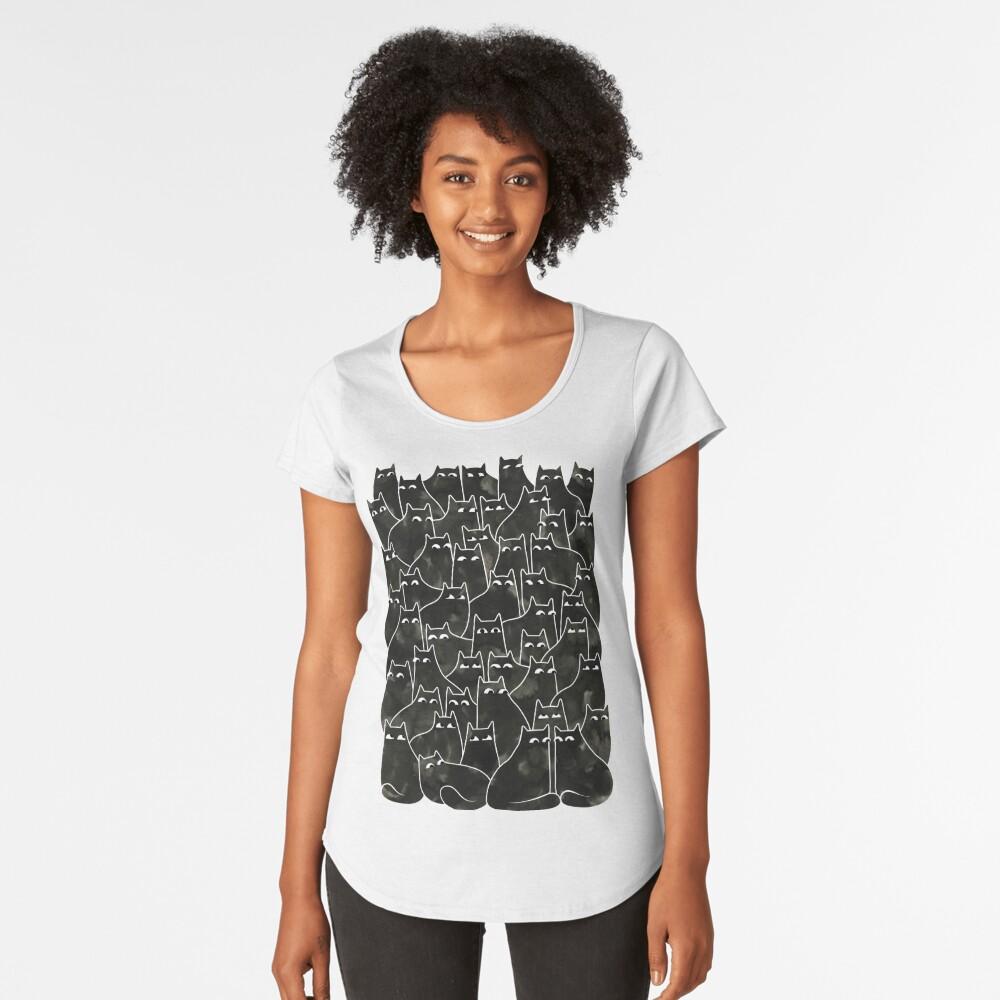 Suspicious Cats Premium Scoop T-Shirt
