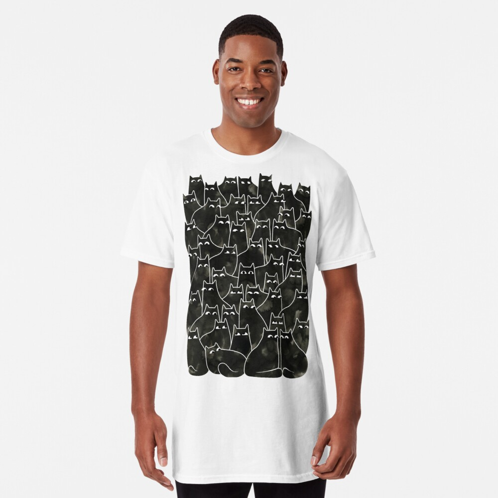 Suspicious Cats Long T-Shirt