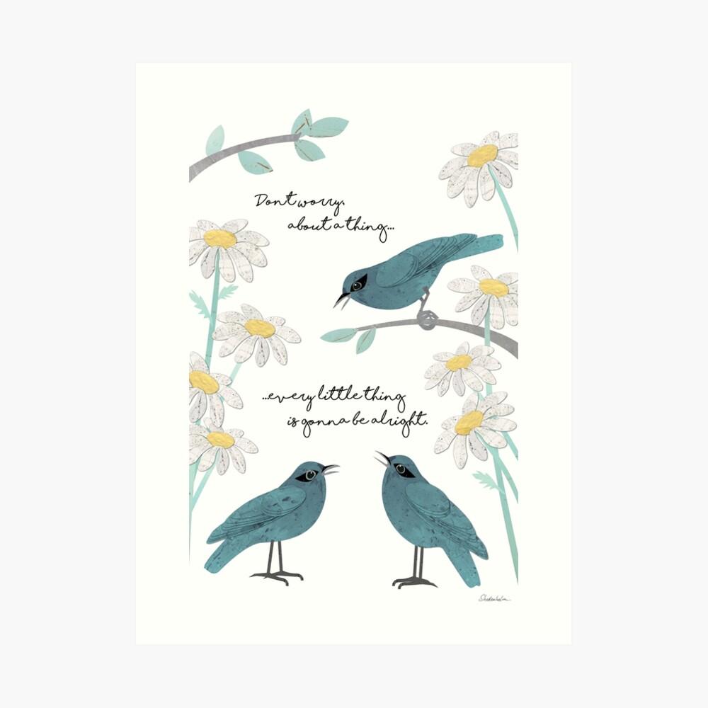 Tres pájaros pequeños Lámina artística