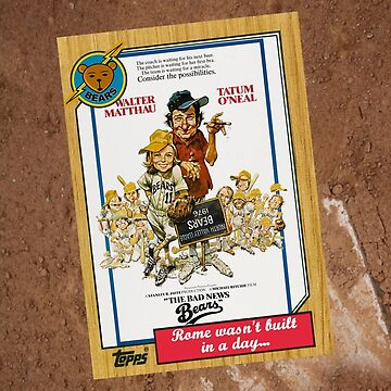 Bad News Bears Movie Poster Card by Tomreagan