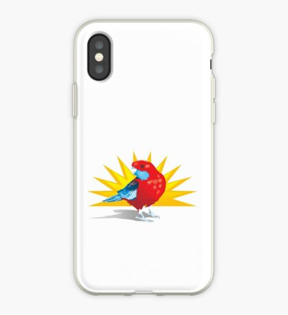 Crimson Rosella Parrot iPhone Case