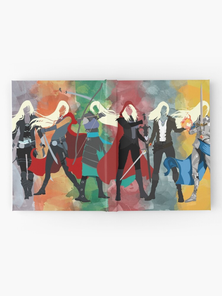 Alternate view of Throne of Glass Series Watercolor Hardcover Journal