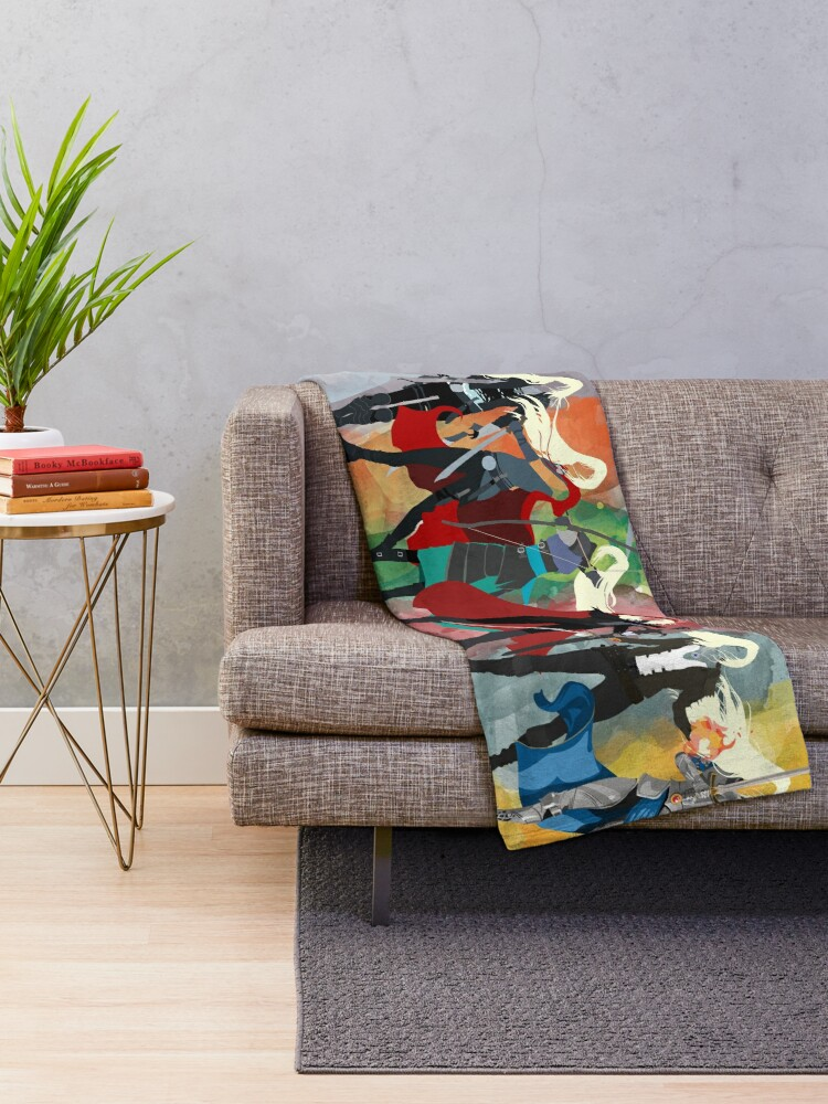 Alternate view of Throne of Glass Series Watercolor Throw Blanket