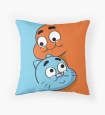 Gumball and Darwin siblings fusion Throw Pillow