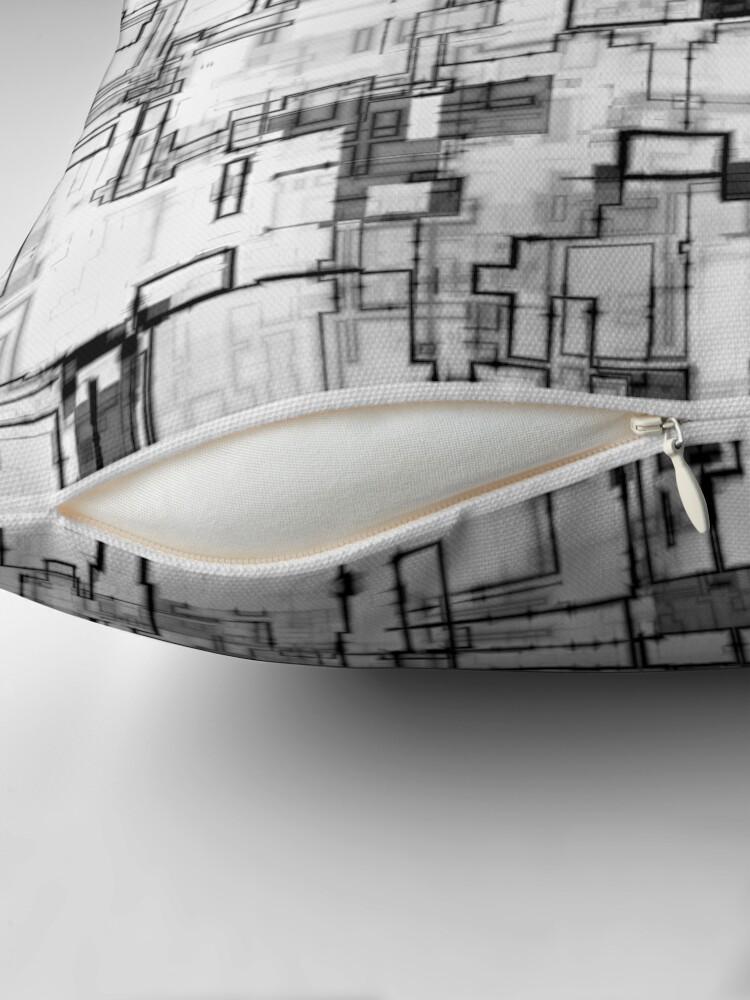 Alternate view of Digital Urban Camo Design Throw Pillow