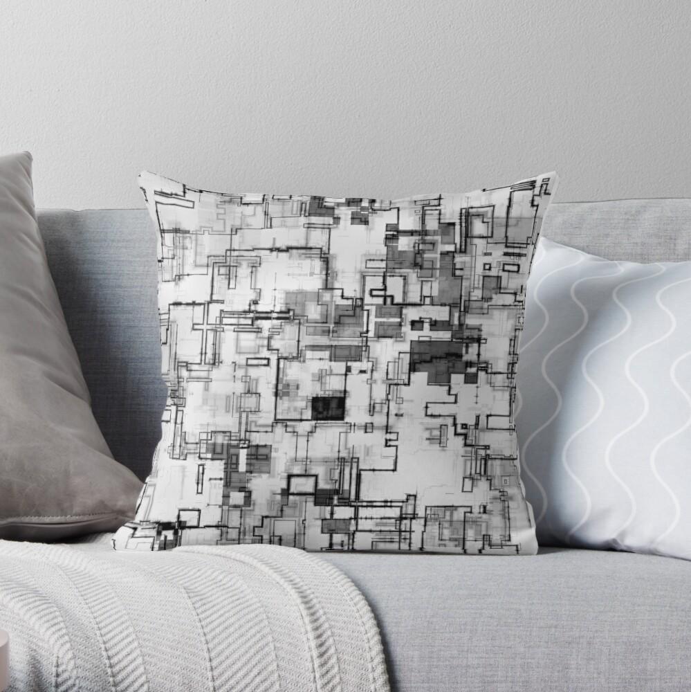 Digital Urban Camo Design Throw Pillow