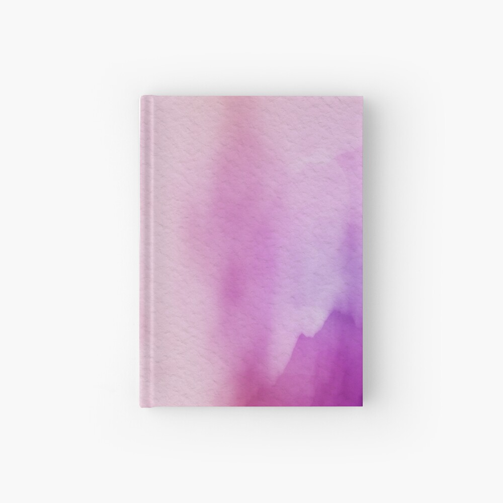 Pinks & Purple Watercolor Positive Space Hardcover Journal