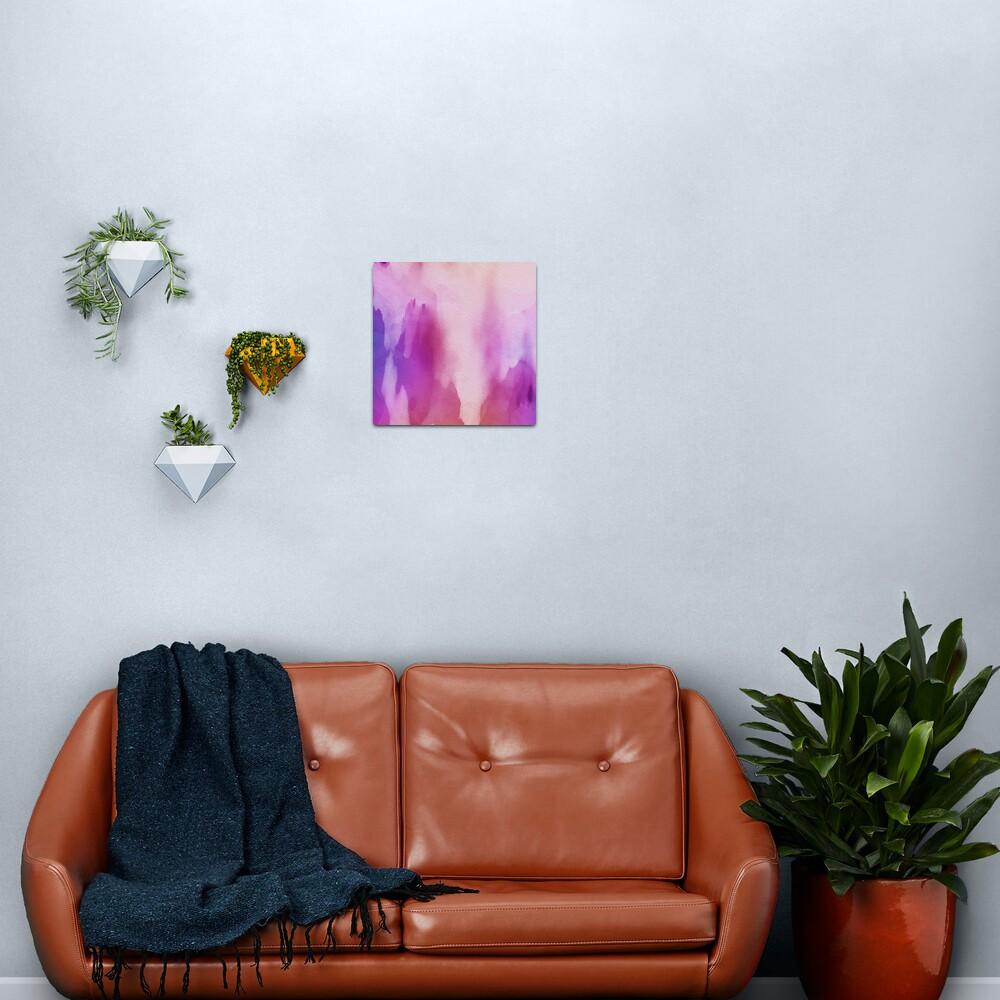 Pinks & Purple Watercolor Positive Space Metal Print