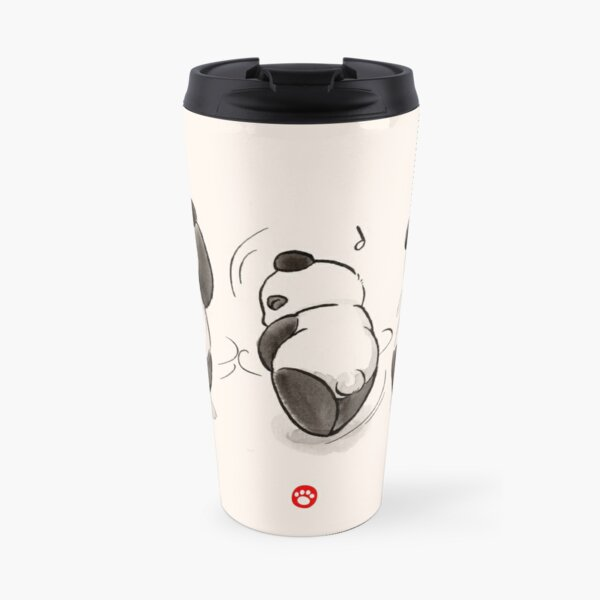 Panda Food Dance Travel Mug
