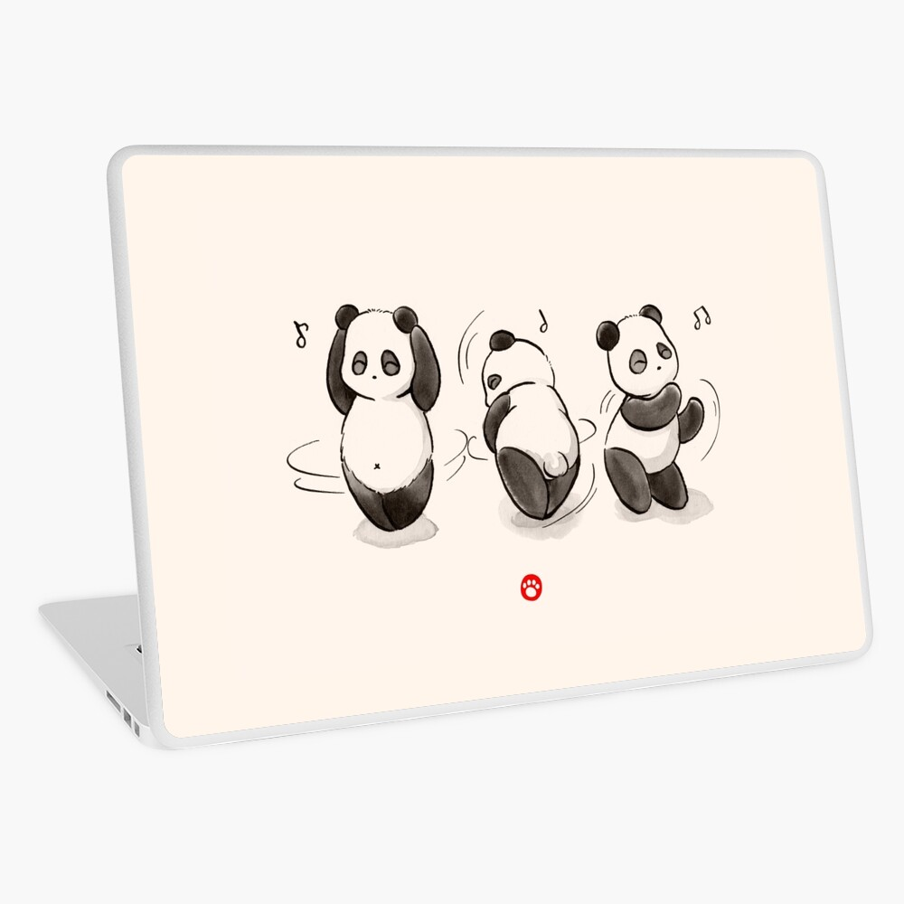Panda Food Dance Laptop Skin