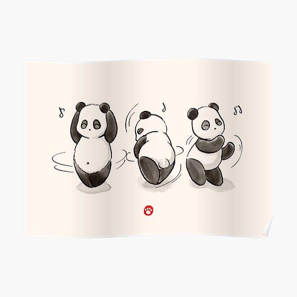 Panda Food Dance Poster
