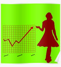Business chart and women Poster