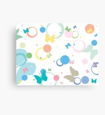 Butterflies and bubbles Canvas Print