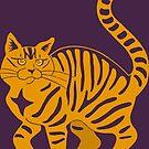 Orange Tabby Cat - tiger stripe by ferinefire