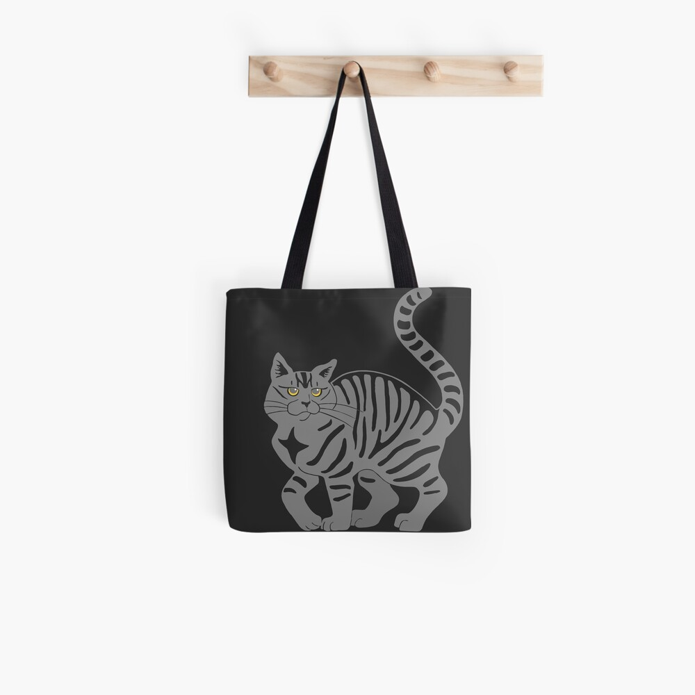 Gray Tabby Cat - tiger stripe Tote Bag