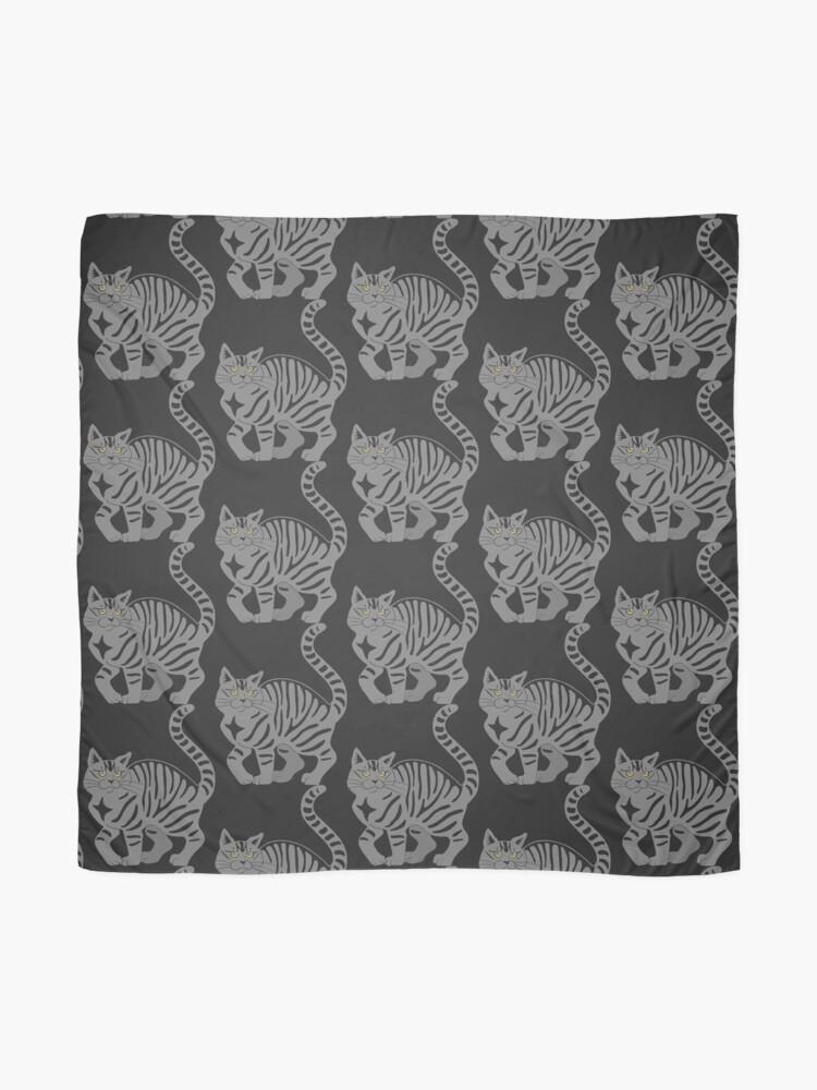 Alternate view of Gray Tabby Cat - tiger stripe Scarf