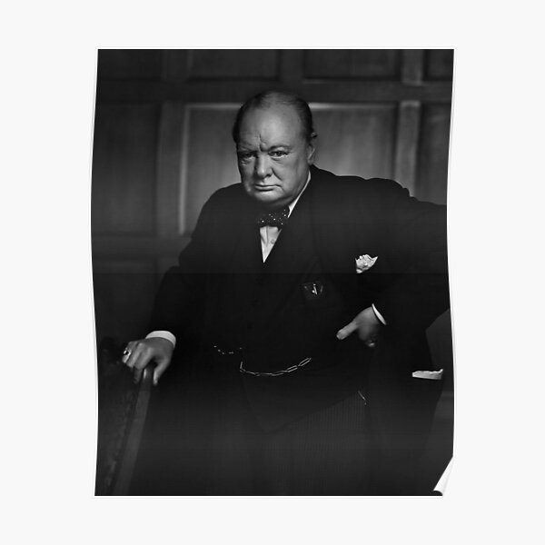 Winston Churchill Portrait Poster